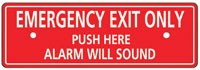Detex ECL-8220 Replacement Sign for ECL-230D Exit Alarm