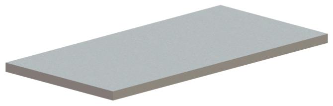 Hager 835SP Flat Bar Steel Astragal