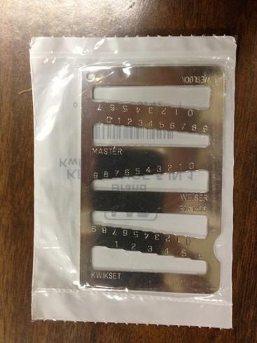 Key Gauge LB-LKG-001 (Schlage, Kwikset, Master, Weslock, Weiser)