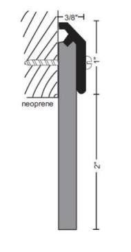 National Guard Products 203NA Neoprene Sill Sweep
