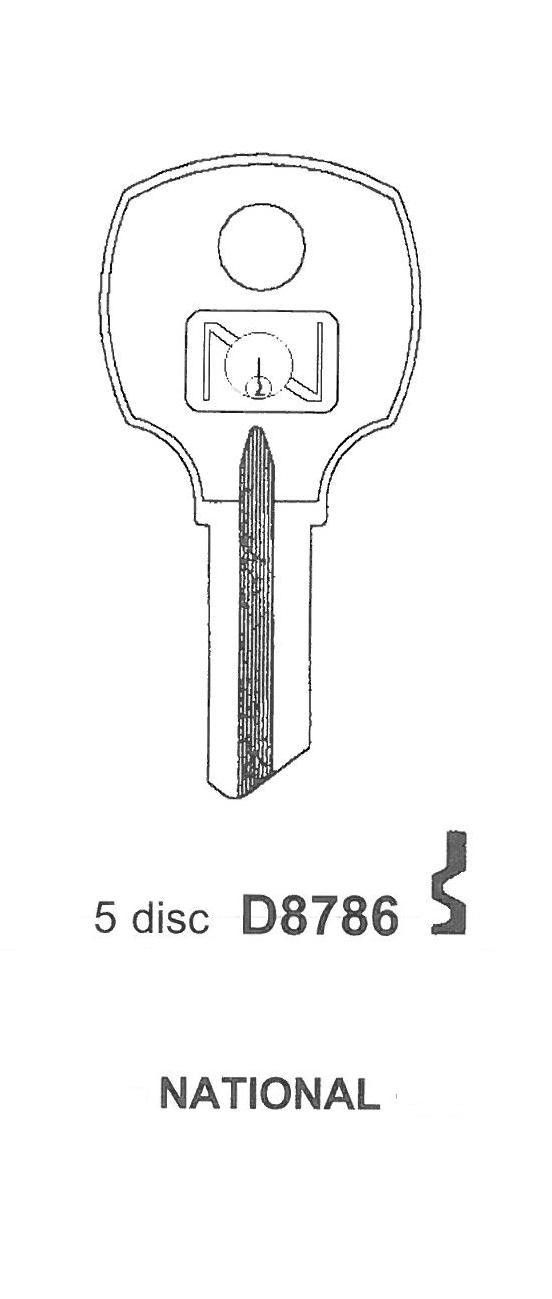 CompX National Keyblank D8786
