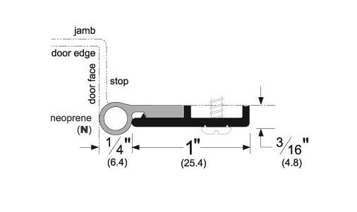 Pemko Neoprene Perimeter Door Seal Kit, 319CN 36x84