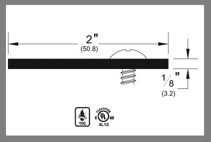 Pemko Stainless Steel Astragal, 357SS - 11 gauge