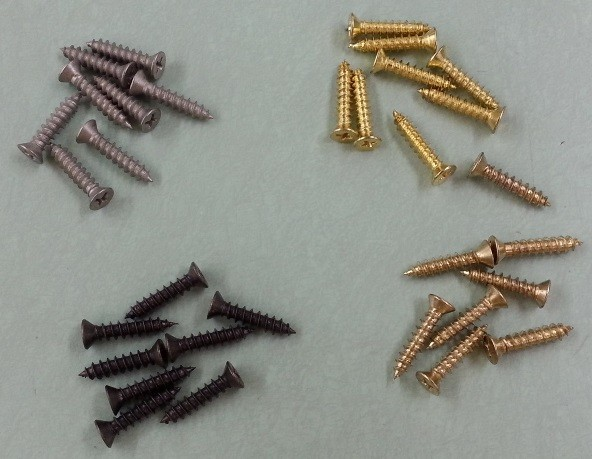 Retro Replacement Wood Screws with a 9 Head