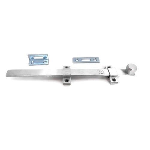 Rockwood 580 12 inch Industrial Surface Bolt - US26D Satin Chrome