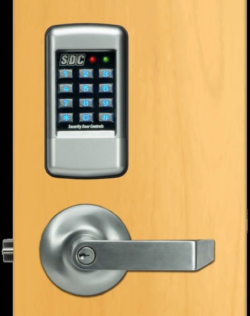 SDC EntryCheck E75K Standalone Electronic Lockset, E75K-Q-G1-Q