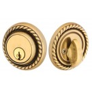 Emtek Brass Rope Dead Bolt US7