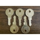 ASI Coin Box Key HL-202 (package of 5)