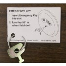 Falcon Emergency Key for Indicator Deadbolt, 61-509