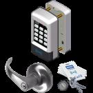 SDC EntryCheck E75P Standalone Prox SFIC Lock, E75P-Q-G5-Q-626