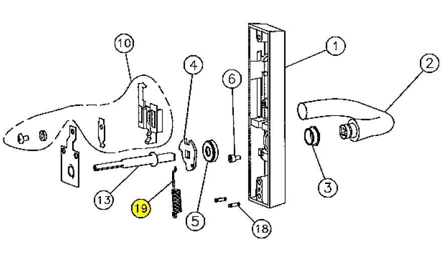 Door Push Plates as well 109704940899325185 besides Page19 together with 98 9927 Svr Parts in addition Clipart Sewing Needle 1. on push bar door hardware diagram