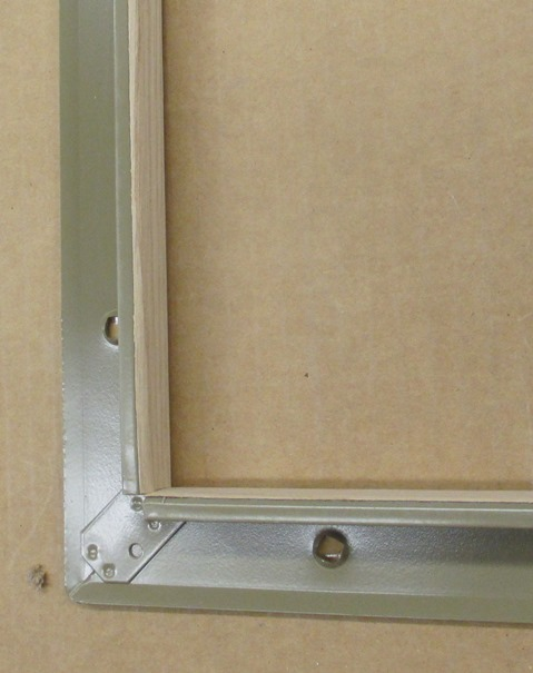 All Metal Stamping Model 110V Steel Window Lite with FC Red Oak Veneer Unfinished Inside