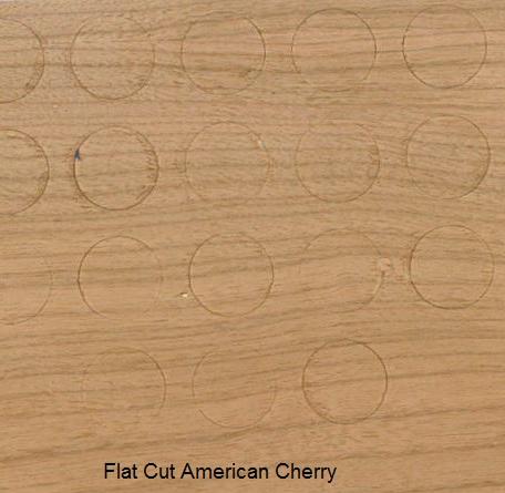 Flat Cut Cherry Veneer - Buttons for Screw heads