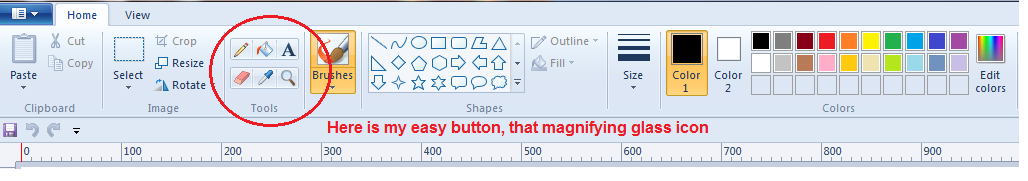 easy button magnifying glass to line up the centerlines