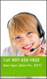 Our customer service is available 24/7. Call us at (937) 222-1522.